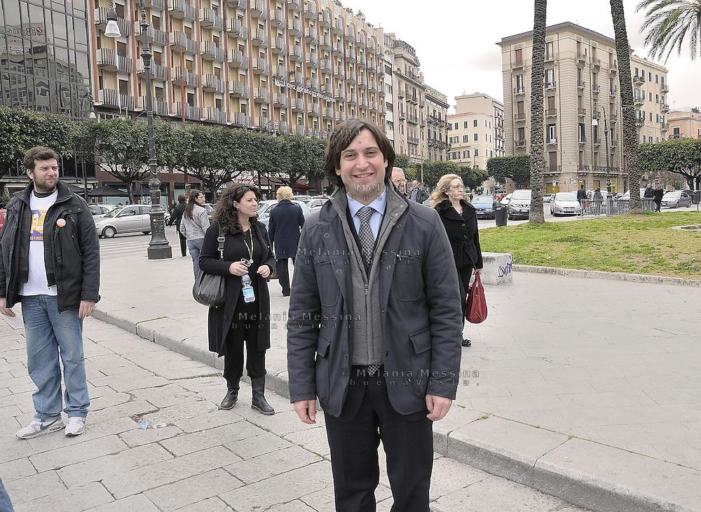 Fabrizio Ferrandelli candidato a sindaco nelle primarie del centro sinistra a Palermo.