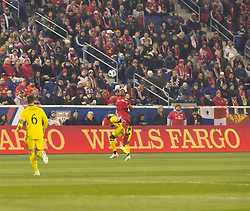 STYLEPREPENDMichael Murillo (62) of Red Bulls & Gyasi Zardes (11) of Columbus Crew SC fight for ball during 2nd leg MLS Cup Eastern Conference semifinal game at Red Bul Arena Red Bulls won 3 - 0 agregate 3 - 1 and progessed to final  (Credit Image: © Lev Radin/Pacific Press via ZUMA Wire)