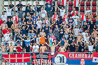 ALKMAAR - 25-08-2016, AZ - Vojvodina, AFAS Stadion, 0-0, supporters Vojvodina.