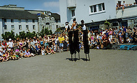 Outdoor street theatre during the Galway Arts Festival Ireland