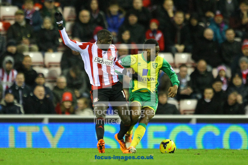 Picture by Paul Chesterton/Focus Images Ltd +44 7904 640267<br /> 21/12/2013<br /> Sunderland's Jozy Altidore and Leroy Fer of Norwich in action during the Barclays Premier League match at the Stadium Of Light, Sunderland.
