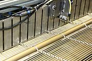 D&uuml;ren. 15.03.17 | BILD- ID 028 |<br /> GKD - Gebr. Kufferath AG. Metallfassade f&uuml;r die Neue Mannheimer Kunsthalle.<br /> Das Unternehmen in D&uuml;ren produziert Fassaden f&uuml;r die Architektur aus Metall. Ein gewebtes Metallgitter wird von Aussen an die Fassade montiert. <br /> Kunsthallendirektorin Dr. Ulrike Lorenz besucht das Unternehmen in D&uuml;ren und freut sich &uuml;ber die technische Umsetzung mit einer speziell goldenen Pigmentierung der Edelstahlstreben.<br /> Bild: Markus Prosswitz 15MAR17 / masterpress (Bild ist honorarpflichtig - No Model Release!)
