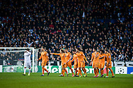 10.12.2013. Copenhagen, Denmark. UEFA Champions League Group B, FC Copenhagen 0 vs. Real Madrid 2. Modric of Real Madrid made the first goal in 25th minute at the Parken Stadium. Photo: © Ricardo Ramirez.