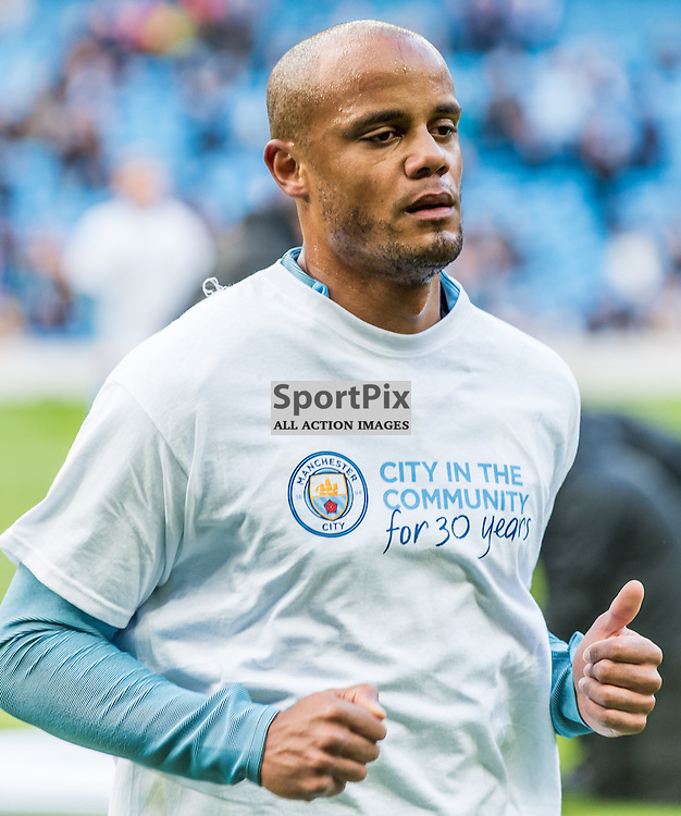 Manchester City defender Vincent Kompany (4) before the Premier League match between Manchester City and Southampton<br /> <br /> (c) John Baguley | SportPix.org.uk