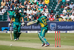 during the 2nd ODI match between South Africa and Australia held at The Wanderers Stadium in Johannesburg, Gauteng, South Africa on the 2nd October  2016<br /> <br /> Photo by Dominic Barnardt/ RealTime Images
