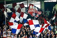 28-08-2015 VOETBAL:WILLEM II- NEC NIJMEGEN:TILBURG<br /> <br /> Willem II supporters met vlaggen Tilburg Tifosi KS79<br /> <br /> Foto: Geert van Erven