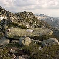Beautiful views of the massif accompany us along the stony path to Cozzano.