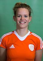 DELFT - Vera Vorstenbosch.  Nederlands zaalhockeyteam dames voor EK in Minsk. COPYRIGHT KOEN SUYK
