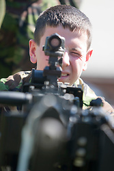With the Heavy Machine Gun..Exercise Guards Warrior with the Scots Guards at their Catterick base..Pic ©2010 Michael Schofield. All Rights Reserved.