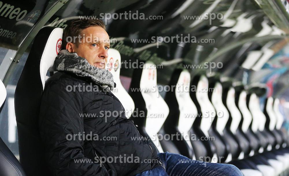 14.02.2015, Commerzbank Arena, Frankfurt, GER, 1. FBL, Eintracht Frankfurt vs Schalke 04, 21. Runde, im Bild vl. Manager Horst Heldt (FC Schalke 04) Portrait // during the German Bundesliga 21th round match between Eintracht Frankfurt vs Schalke 04 at the Commerzbank Arena in Frankfurt, Germany on 2015/02/14. EXPA Pictures &copy; 2015, PhotoCredit: EXPA/ Eibner-Pressefoto/ Voelker<br /> <br /> *****ATTENTION - OUT of GER*****