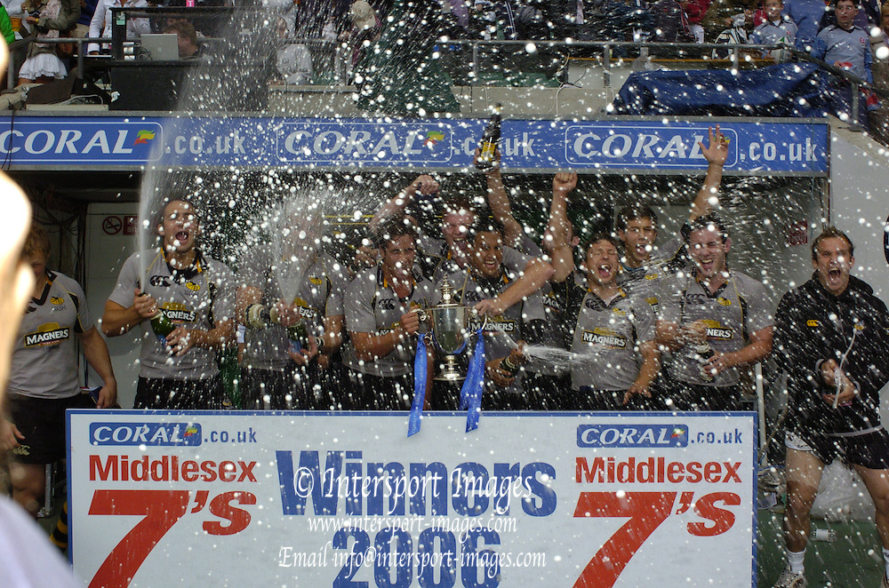 The Middlesex Sevens, Twickenham Stadium, Twickenham, GREAT BRITAIN, 12.08.2006. Rugby, Final, and presention London Wasps, [winners] vs Leicester Tigers.  Photo, Peter Spurrier, Tel +44 7973 819 551, email images@intersport-images.com...