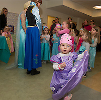 Charlotte Hawkins is a princess for a day during Anna and Elsa's Tea at the Gilford Community Center on Saturday morning.  (Karen Bobotas/for the Laconia Daily Sun)