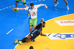 Sorhaindo Cedric and Poteko Vid during 25th IHF men's world championship 2017 match between France and Slovenia at Accord hotel Arena on january 24 2017 in Paris. France. PHOTO: CHRISTOPHE SAIDI / SIPA / Sportida