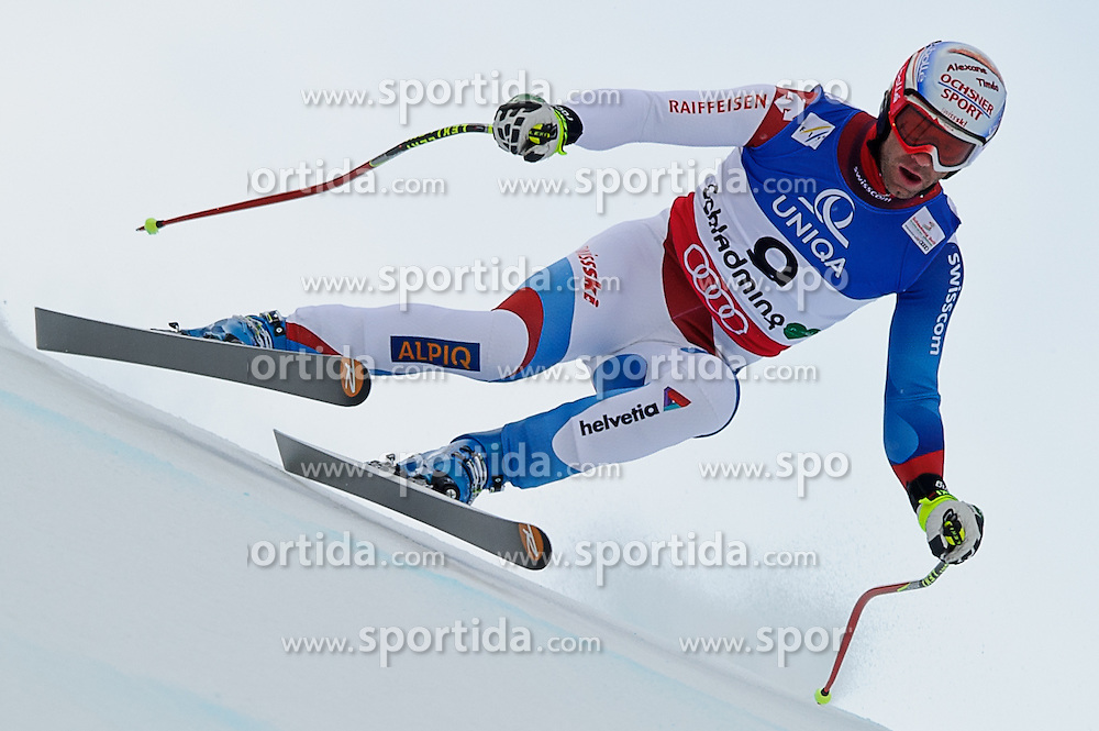07.02.2013, Planai, Schladming, AUT, FIS Weltmeisterschaften Ski Alpin, Abfahrt, Herren, 1. Training, im Bild Didier Defago (SUI) // Didier Defago of Switzerland in action during 1st practice of Mens Downhill at the FIS Ski World Championships 2013 at the Planai Course, Schladming, Austria on 2013/02/07. EXPA Pictures © 2013, PhotoCredit: EXPA/ Sandro Zangrando