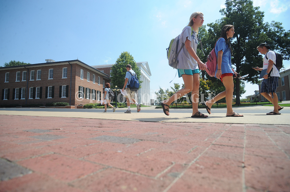 University of Mississippi students return to classes  in Oxford, Miss. on Monday, August 23, 2010.