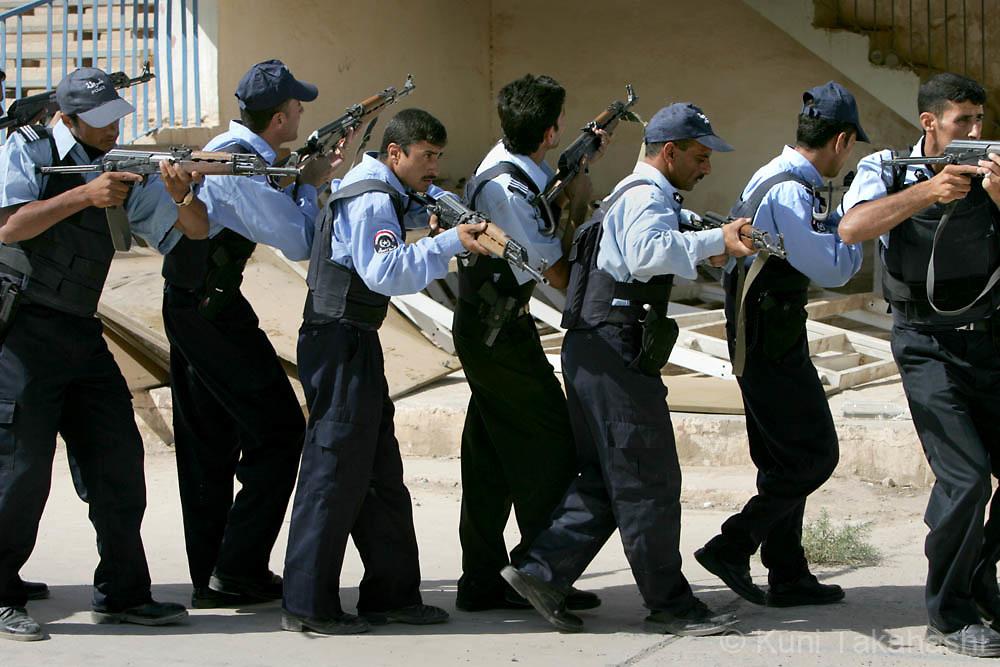 Iraqi Police training in Ramadi, Iraq, July 10, 2006.