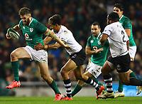 Rugby Union - 2017 Guinness Series (Autumn Internationals) - Ireland vs. Fiji<br /> <br /> Stuart McCloskey (Ireland) is tackled by Ben Volavola (Fiji), at the Aviva Stadium.<br /> <br /> COLORSPORT/KEN SUTTON