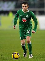 Fotball<br /> Tyskland<br /> Foto: Witters/Digitalsport<br /> NORWAY ONLY<br /> <br /> 26.02.2009<br /> <br /> Zvjezdan Misimovic<br /> Fussball VfL Wolfsburg<br /> UEFA-Cup VfL Wolfsburg - Paris St. Germain