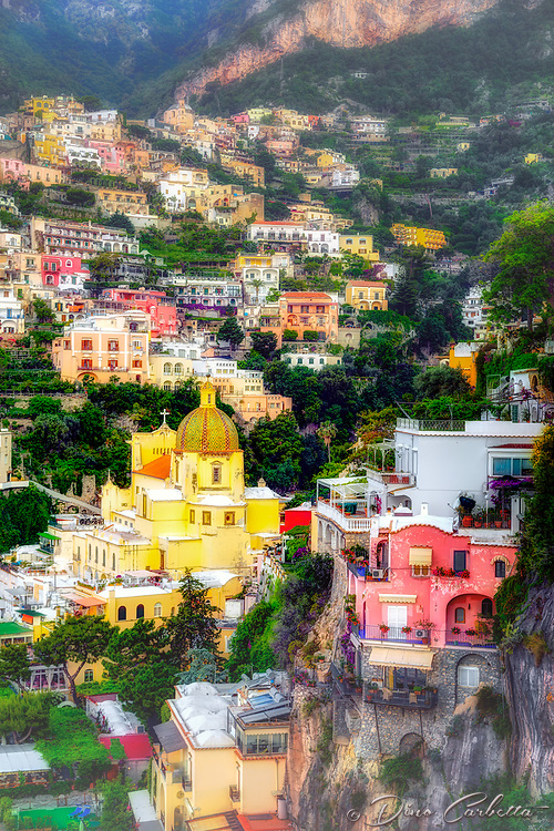 """Early morning sun on the cliffs of Positano""…<br />