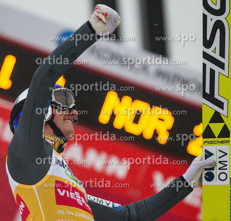 04.01.2013, Bergisel Schanze, Innsbruck, AUT, FIS Ski Sprung Weltcup, 61. Vierschanzentournee, Bewerb, im Bild Sieger Gregor Schlierenzauer (AUT) // Winner Gregor Schlierenzauer of Austria  during Competition of 61th Four Hills Tournament of FIS Ski Jumping World Cup at the Bergisel Schanze, Innsbruck, Austria .on 2013/01/04. EXPA Pictures © 2012, PhotoCredit: EXPA/ Juergen Feichter