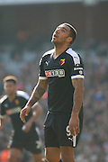 Watford striker, Troy Deeney (9) looking dispondant during the The FA Cup Quarter Final match between Arsenal and Watford at the Emirates Stadium, London, England on 13 March 2016. Photo by Matthew Redman.