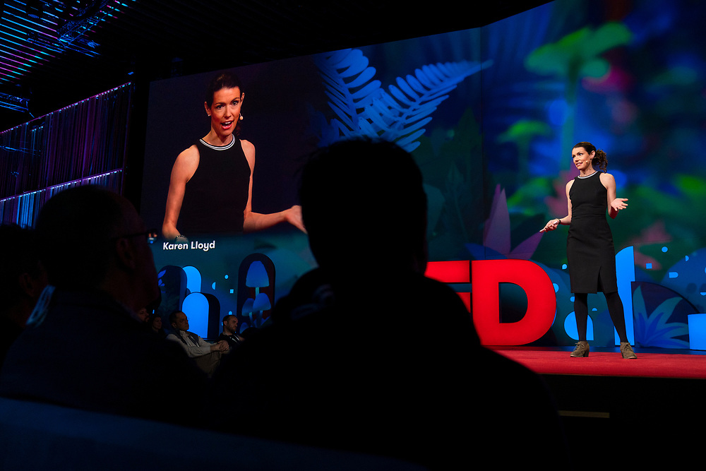 Karen Lloyd speaks at TED2019: Bigger Than Us. April 15 - 19, 2019, Vancouver, BC, Canada. Photo: Bret Hartman / TED