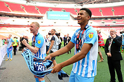 Free to use courtesy of Sky Bet. Jordon Thompson of Coventry City after winning the Sky Bet League Two play off final against Exeter City  - Mandatory by-line: Dougie Allward/JMP - 28/05/2018 - FOOTBALL - Wembley Stadium - London, England - Coventry City v Exeter City - Sky Bet League Two Play-off Final