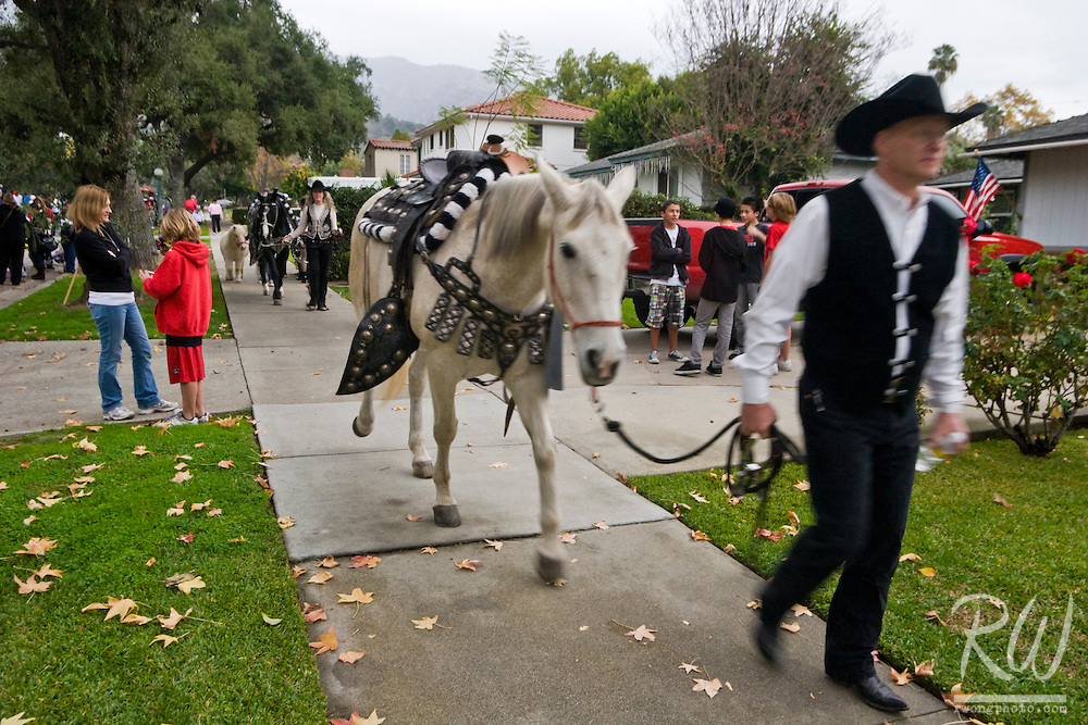 Equestrian Unit at Glendora Christmas Parade, California