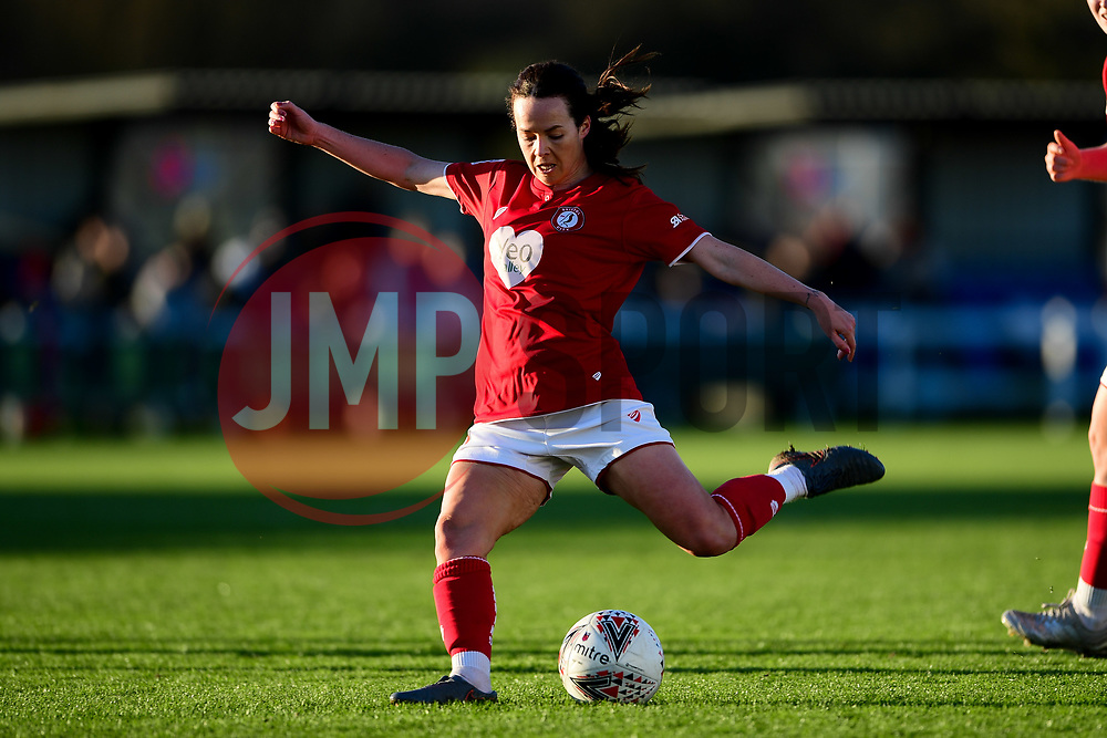 Olivia Chance of Bristol City has a shot on goal - Mandatory by-line: Ryan Hiscott/JMP - 19/01/2020 - FOOTBALL - Stoke Gifford Stadium - Bristol, England - Bristol City Women v Liverpool Women - Barclays FA Women's Super League