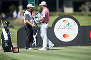 Brandt Snedeker (USA) and Graeme McDowell (NIR) during theThird Round of the The Arnold Palmer Invitational Championship 2017, Bay Hill, Orlando,  Florida, USA. 18/03/2017.<br /> Picture: PLPA/ Mark Davison<br /> <br /> <br /> All photo usage must carry mandatory copyright credit (&copy; PLPA | Mark Davison)