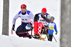 BEREZIN Yuriy, KAZ, LW12, ZIMA Josip, CRO, LW10.5 at the 2018 ParaNordic World Cup Vuokatti in Finland
