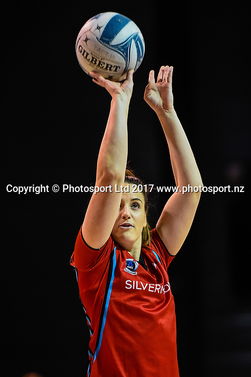 Sophia Fenwick of the Tactix warms up during the ANZ Premiership Netball match, Tactix V Magic, Horncastle Arena, Christchurch, New Zealand, 6th June 2018.Copyright photo: John Davidson / www.photosport.nz