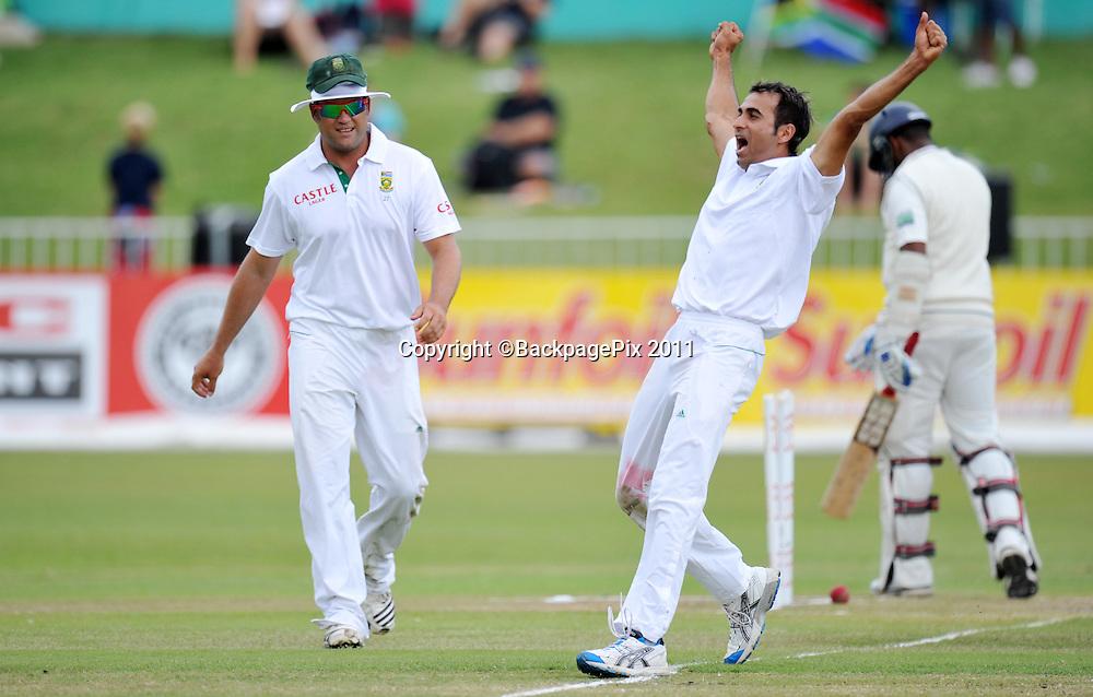 Imran Tahir, South Africa celebrating the wicket of Thilan Samaraweera , Sri Lanka<br /> <br /> &copy; Sabelo Mngoma/BackpagePix