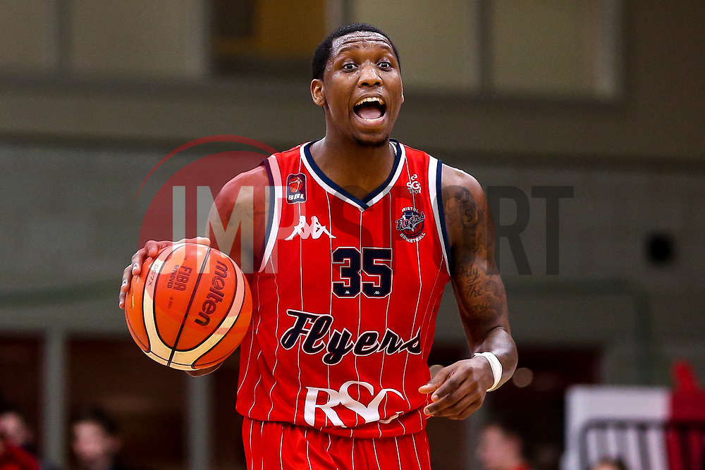 Fred Thomas of Bristol Flyers - Photo mandatory by-line: Robbie Stephenson/JMP - 11/01/2019 - BASKETBALL - Leicester Sports Arena - Leicester, England - Leicester Riders v Bristol Flyers - British Basketball League Championship