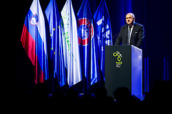 Radenko Mijatovic, president of NZS having a speech during Traditional New Year party of of the Slovenian Football Association - NZS, on December 20, 2018 in Gospodarsko razstavisce, Ljubljana, Slovenia. Photo by Vid Ponikvar / Sportida