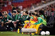 NEWCASTLE, NSW - NOVEMBER 13: Australian bench at the international women's soccer match between Australia and Chile at McDonald Jones Stadium in NSW, Australia. (Photo by Speed Media/Icon Sportswire)