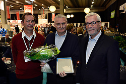 Odense, Denmark, 20121120: VandTek fair in Odense Congress Center is organised by MCH in Herning. The fair is including sales and presentation stands as well as conferences all connected to water, water supply and water treatment. The Groundwater Award/Grundvandsprisen is given to Walter Brüsch, GEUS.Photo: Lars Moeller