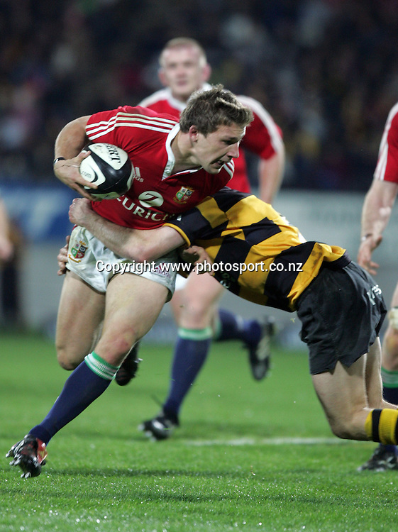 Chris Cusiter in action during the British and Irish Lions v Taranaki rugby match at Yarrow Stadium, New Plymouth, New Zealand on Wednesday 8 June, 2005. The Lions won the match, 36 - 14. Photo: Hannah Johnston/PHOTOSPORT