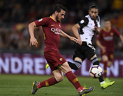 ROME, May 13, 2019  Roma's Alessandro Florenzi scores his goal during a Serie A soccer match between Roma and FC Juventus in Rome, Italy, May 12 , 2019. Roma won 2-0. (Credit Image: © Xinhua via ZUMA Wire)