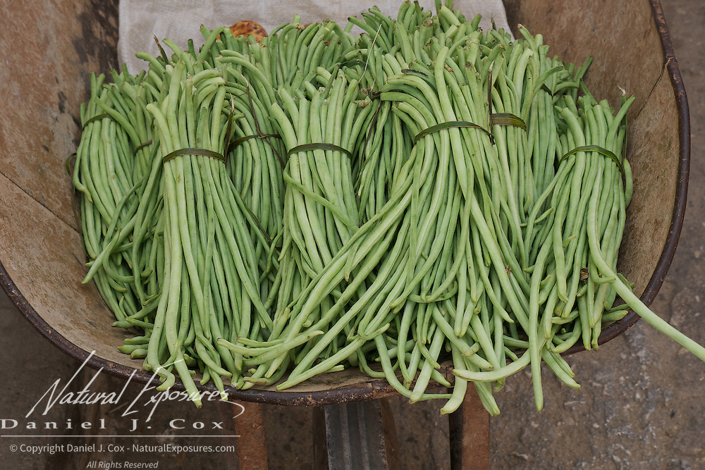 Green beans being sold on the streets of Trinidad, Cuba.