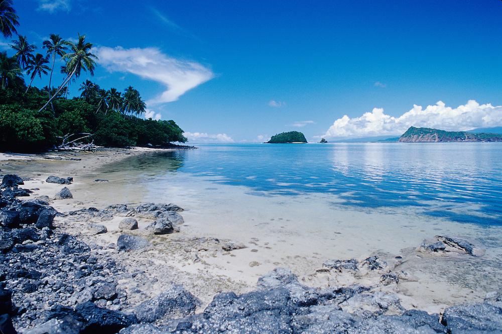 Western Samoa, Manono Island scenice, oceanscape