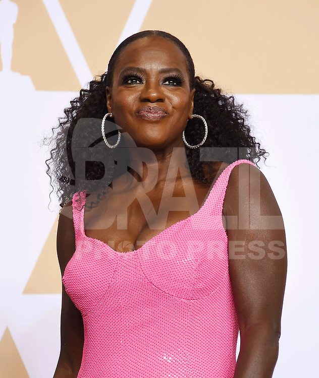 HOLLYWOOD, EUA, 04.03.2018 - OSCAR-CERIMONIA - Viola Davis na sala de imprensa após cerimonia de premiação no 90 edição do Oscar no Hollywood & Highland Center  na California nos Estados Unidos na noite deste domingo, 04. (Foto: Brazil Photo Press)