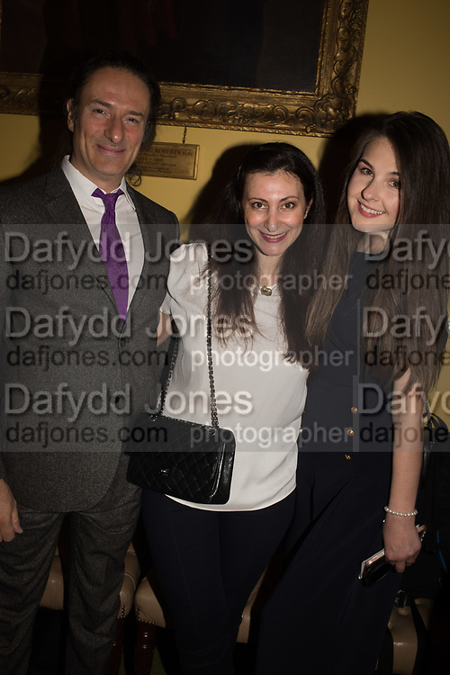 RAMSAY ATTALLAH; PAULINE AHAD; ALISON DEDOVIC,  Launch hosted by Quartet books  of Madam, Where Are Your Mangoes? by Sir Desmond de Silva at The Carlton Club. London. 27 September 2017.