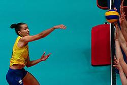 29-05-2019 NED: Volleyball Nations League Poland - Brazil, Apeldoorn<br /> Gabriela Braga Guimaraes C #10 of Brazil