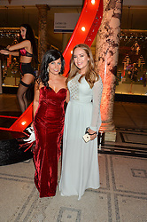 Left to right, JENNIFER ANTON Head of Cosmetics Marketing for Revlon UK and TANYA BURR at the Revlon Choose Love Masquerade Ball held at the V&A Museum, Cromwell Road, London on 21st July 2016.