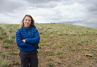 Portrait of a woman Umptanum Ridge eastern Washington USA&#xA;<br />