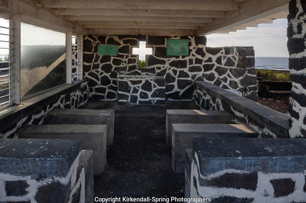HI00367-00...HAWAI'I - Henery Opukahaia Chapel near Punalu'u Beach Park on the island of Hawai'i.
