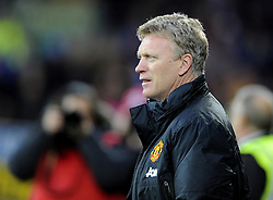 Man Utd Manager David Moyes (SCO) - Photo mandatory by-line: Joseph Meredith/JMP - Tel: Mobile: 07966 386802 - 24/11/2013 - SPORT - FOOTBALL - Cardiff City Stadium - Cardiff City v Manchester United - Barclays Premier League.