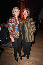 Left to right, Lady (Bridget) Cowper-Coles and Lady (Sarah) Jackson at Made in Afghanistan - a fashion show in aid of Afganaid and The Soldiers' Charity held at the Porchester Hall, London on 7th October 2010.
