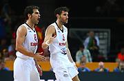 DESCRIZIONE : Kaunas Lithuania Lituania Eurobasket Men 2011 Quarter Final Round Spagna Slovenia Spain Slovenia<br /> GIOCATORE : Jose Calderon Rudy Fernandez<br /> CATEGORIA : esultanza<br /> SQUADRA : Spagna Spain <br /> EVENTO : Eurobasket Men 2011<br /> GARA : Spagna Slovenia Spain Slovenia<br /> DATA : 14/09/2011<br /> SPORT : Pallacanestro <br /> AUTORE : Agenzia Ciamillo-Castoria/G.Matthaios<br /> Galleria : Eurobasket Men 2011<br /> Fotonotizia : Kaunas Lithuania Lituania Eurobasket Men 2011 Quarter Final Round Spagna Slovenia Spain Slovenia<br /> Predefinita :